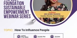 Register For The ELOY Sustainable Empowerment Webinar Series on How To Influence People