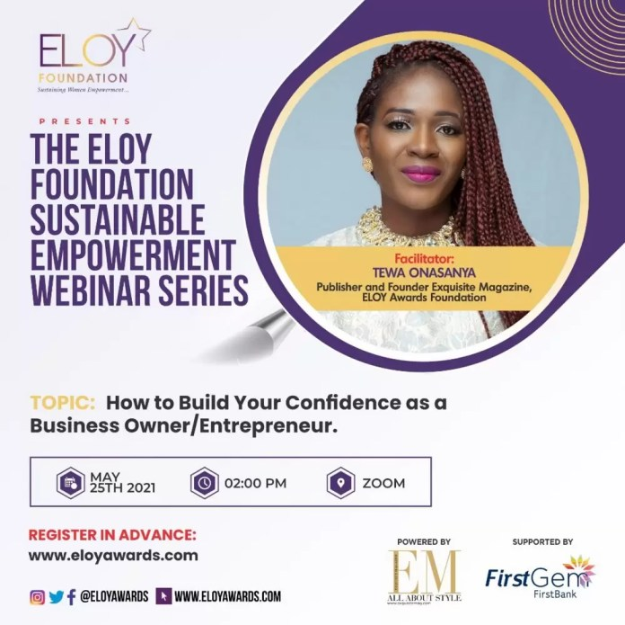 ELOY AWARDS FOUNDATION PARTNERS FIRSTGEM IN SUSTAINABLE EMPOWERMENT WEBINAR SERIES 1