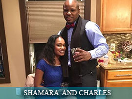 Shamara Rhules and Charles Simmons