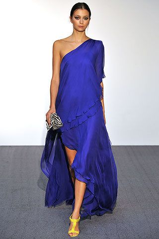 Halston Brilliant Blue Gown on Exshoesme.com