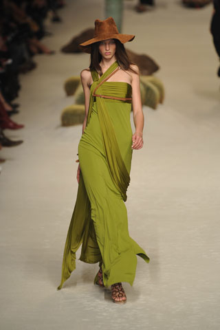 hermes-chartreuse-sash-gown-ss09