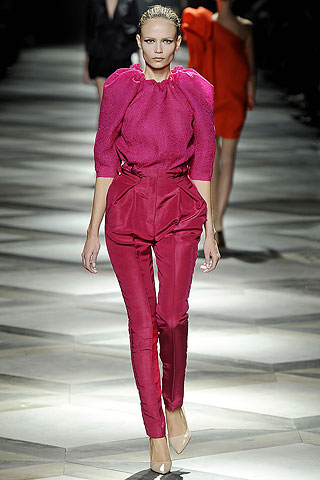 Lanvin Fuchsia Pants and Poufed Blouse on Exshoesme.com