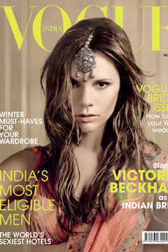 Spice Girl, indeed...Posh posing for Vogue India