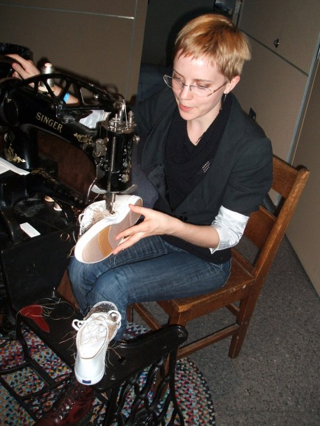 Danielle Meader of finalfashion, working while we partied.