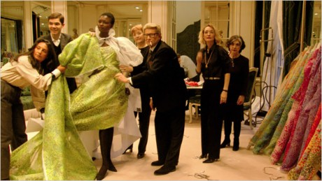 Creating couture of a bygone era  - Monsieur St. Laurent at his atelier