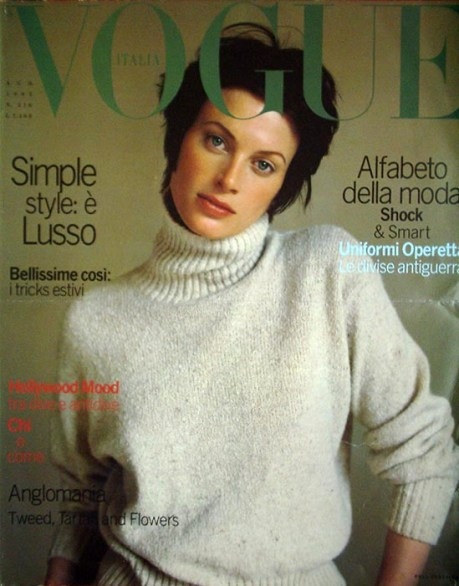 vogue italy aug 93 cover