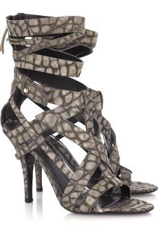 Givenchy croc-print sandals.