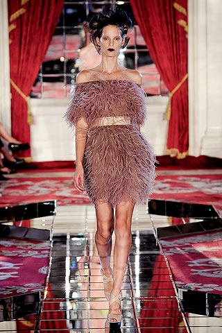 wu feathered frock ss10