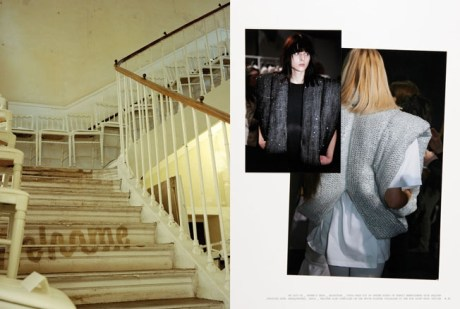 Stairs and chairs @ Paris MMM HQ + AW2007 sequin coats