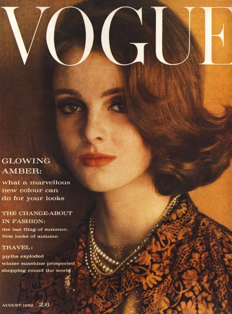 A '60s cover of British Vogue with Coddington as model