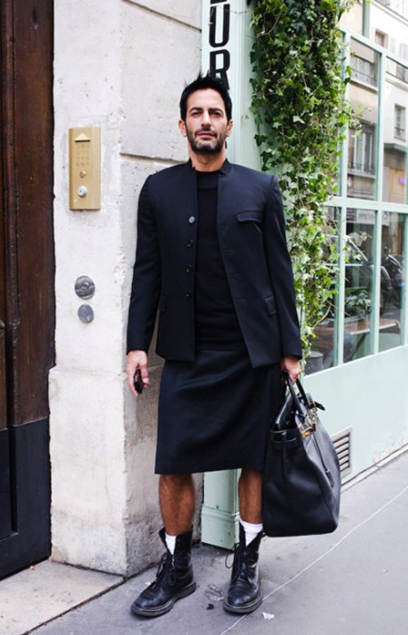 Marc Jacobs in a kilt on Exshoesme.com
