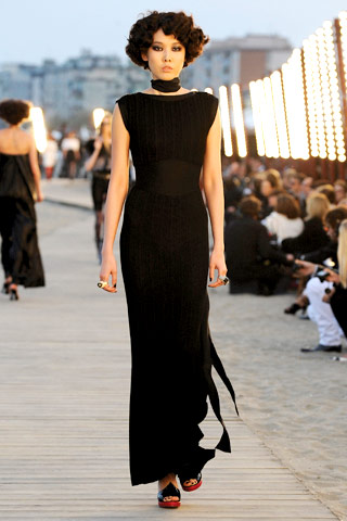 Chanel Resort 2010 long black dress on Exshoesme.com