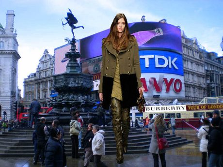 Burberry Takes Over Piccadilly. Photo Illustration by Jyotika Malhotra on exshoesme.com