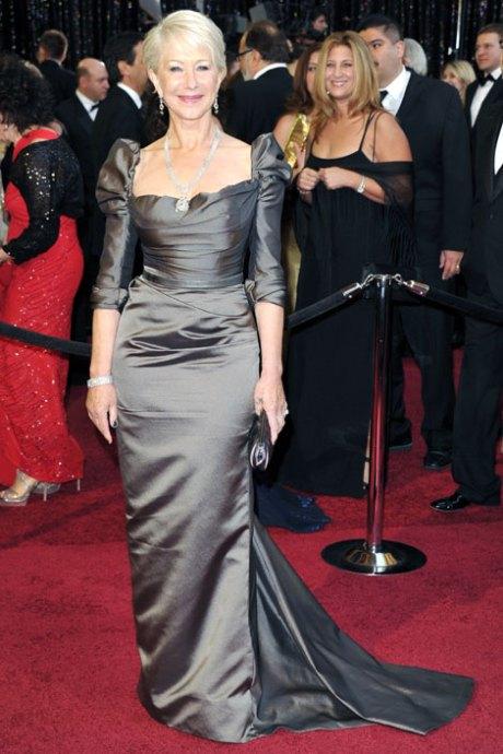 Helen Mirren in Vivienne Westwood Couture Oscars 2011 on exshoesme.com