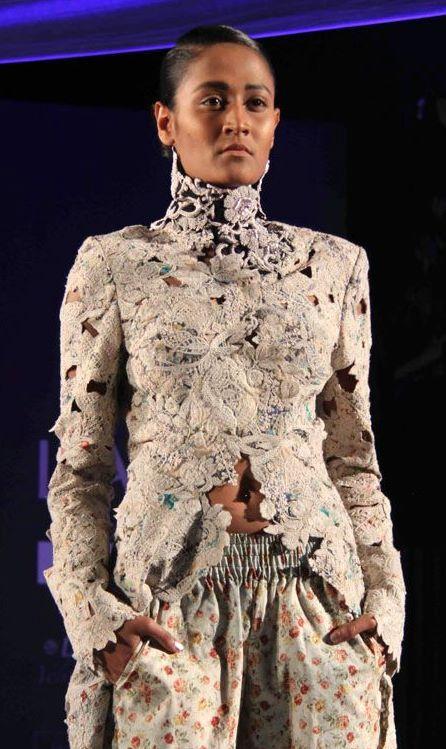 Anamika Khanna lace jacket Summer Resort 2011 on exshoesme.com