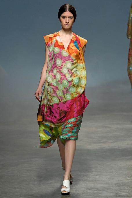 Issey Miyake Floral Print Dress SS11