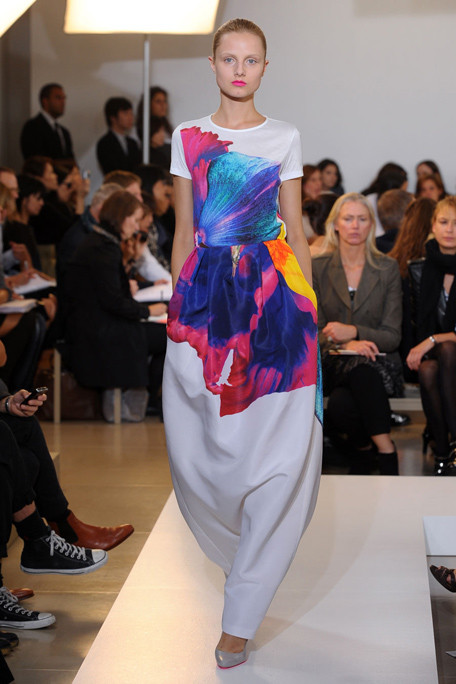Jil Sander SS11 White Floral Print Dress on exshoesme.com
