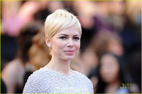 Michelle Williams Pixie Cut at the Oscars 2011 on exshoesme.com