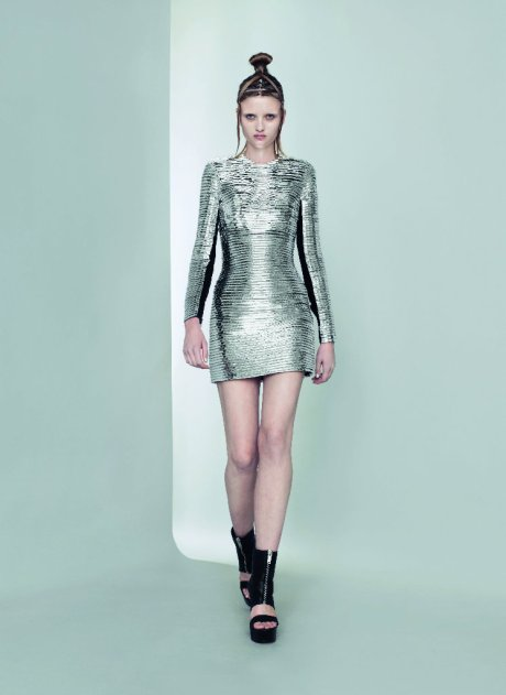 Gareth Pugh Silver Dress SS11 on exshoesme.com