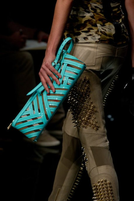 Burberry Brights Turquoise Clutch SS11 on exshoesme.com