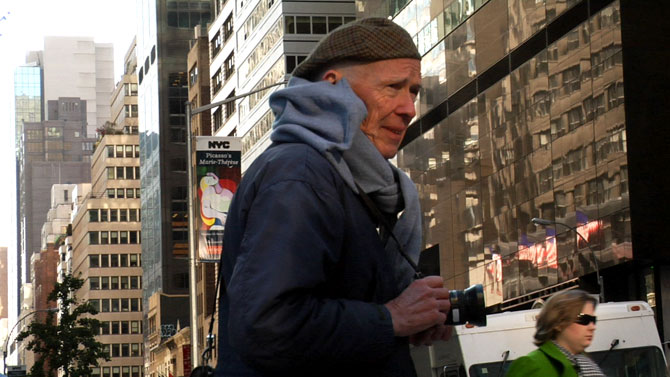 Bill Cunningham in BCNY on exshoesme.com