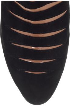 Alaia Slashed Suede Boots Detail on exshoesme.com