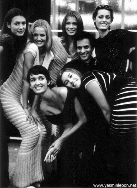 Azzedine Alaia with Supermodels on exshoesme.com
