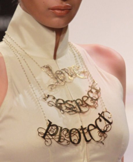 Breathing Space by Eina Ahluwalia Love Protect Respect Necklace on exshoesme.com