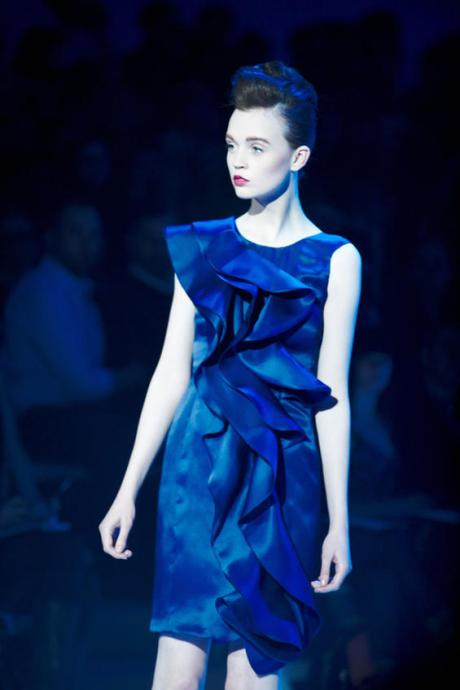Christian Siriano FW10 Ruffled Blue Dress on exshoesme.com