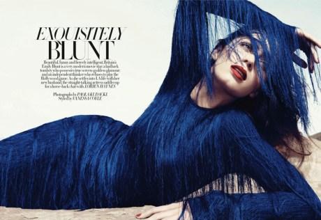 Emily Blunt Wearing Tom Ford SS11 in Harper's Bazaar UK January 2011 on exshoesme.com
