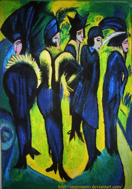 Five Women in the Street by Ernst Ludwig Kirchner, 1913 on exshoesme.com