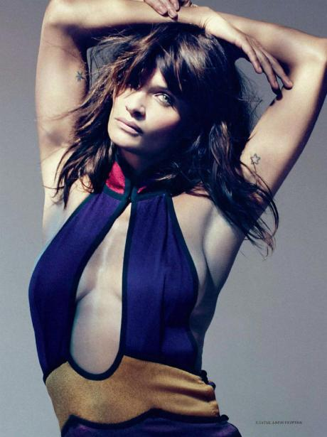 Helena Christensen for Harper's Bazaar Russia May 2011 by Luis Sanchis on exshoesme.com 1