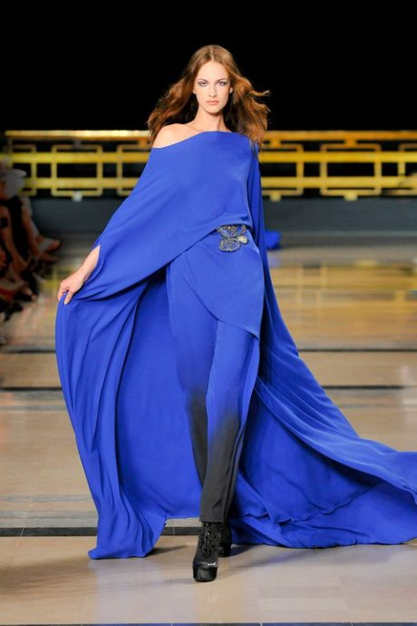 Stephane Rolland Blue Pant Dress FW10 Haute Couture on exshoesme.com