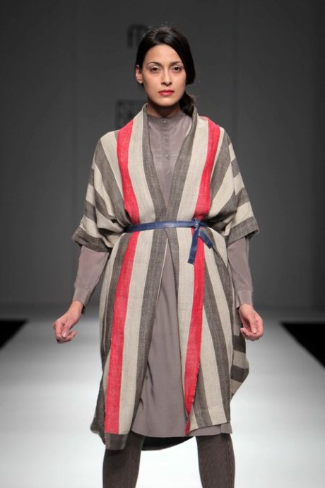 Striped Linen Cardigan and Tunic at Neeru Kumar FW11 on exshoesme.com