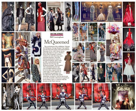 Bill Cunningham McQueened in the New York Times May 15, 2011 on exshoesme.com.