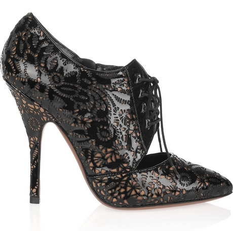 Alaia Laser Cut Lace Up Pumps 1 on exshoesme.com