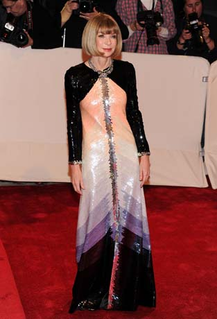 """Anna Wintour at """"Alexander McQueen: Savage Beauty"""" Costume Institute Gala At The Metropolitan Museum Of Art on exshoesme.com"""