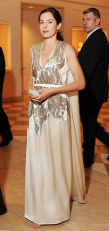 Miranda Brooks in Alexander McQueen at the Met Ball 2011 on exshoesme.com