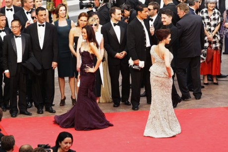 Passing Trains on the 2011 Cannes Film Festival Red Carpet on exshoesme.com. Photo by Vittorio Zunino Celotto-Getty Images Europe.