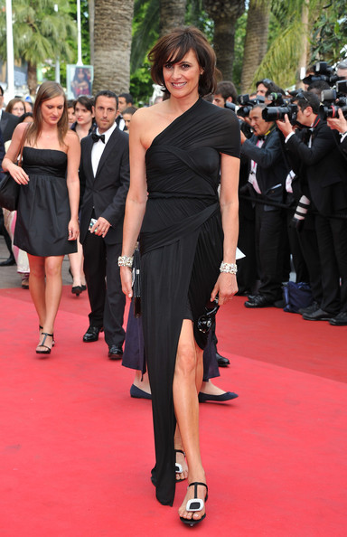 Ines de la Fressange in Carven at the 2011 Cannes Film Festival on exshoesme.com.
