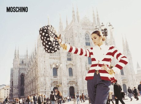 Yasmin Le Bon for Moschino SS11 Ad Campaign by Juergen Teller on exshoesme.com