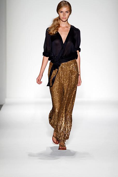 Alexander Berardi SS11 Gold Harem Pants on exshoesme.com