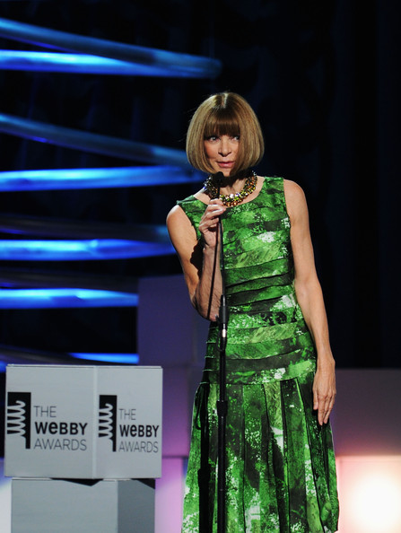 Anna Wintour at the Webby Awards on exshoesme.com