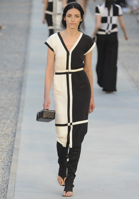 Chanel Resort 2012 Black and White Dress on exshoesme.com