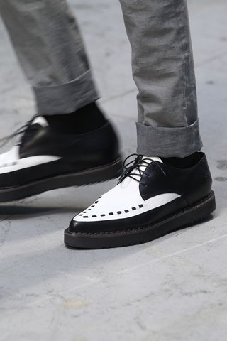 Costume National Menswear Black and White Shoes for SS12 on exshoesme.com