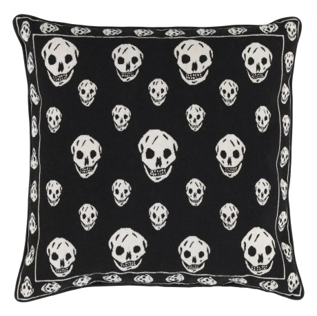 Alexander McQueen Black Skull Pillow for the Rug Company on exshoesme.com
