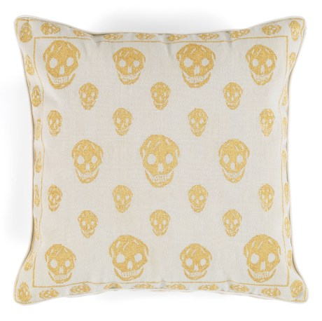 Alexander McQueen Gold Skull Pillow for the Rug Company on exshoesme.com