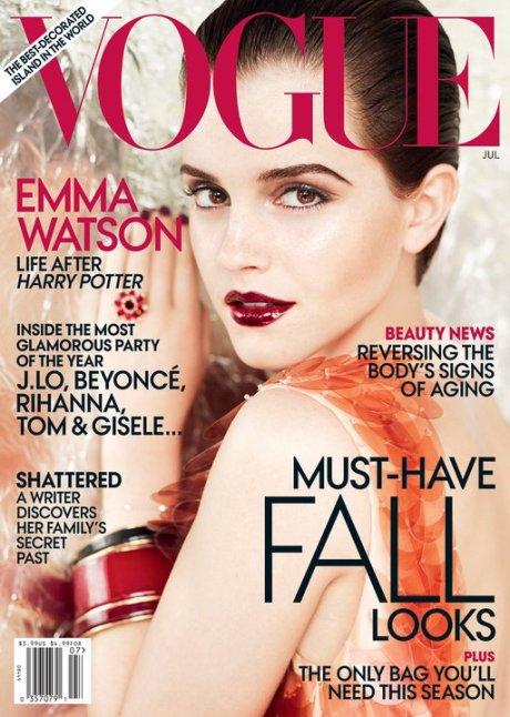 Emma Watson Vogue July 2011 on exshoesme.com