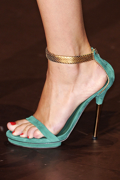Gucci SS11 Suede and Python Sandal on exshoesme.com