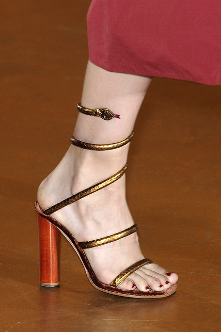 Marc Jacobs SS11 Bronze Snake Sandals on exshoesme.com